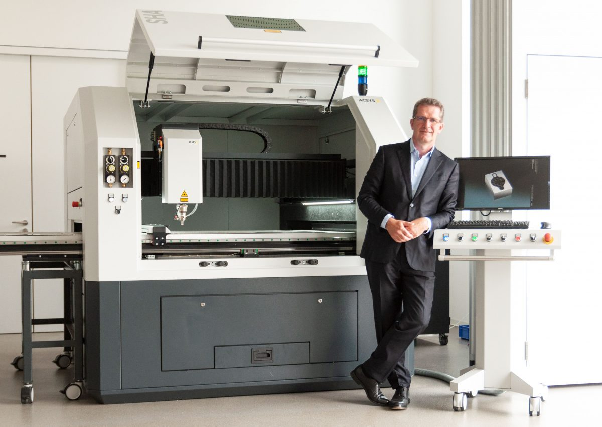 Gerhard Kimmel, managing partner of ACSYS Lasertechnik.