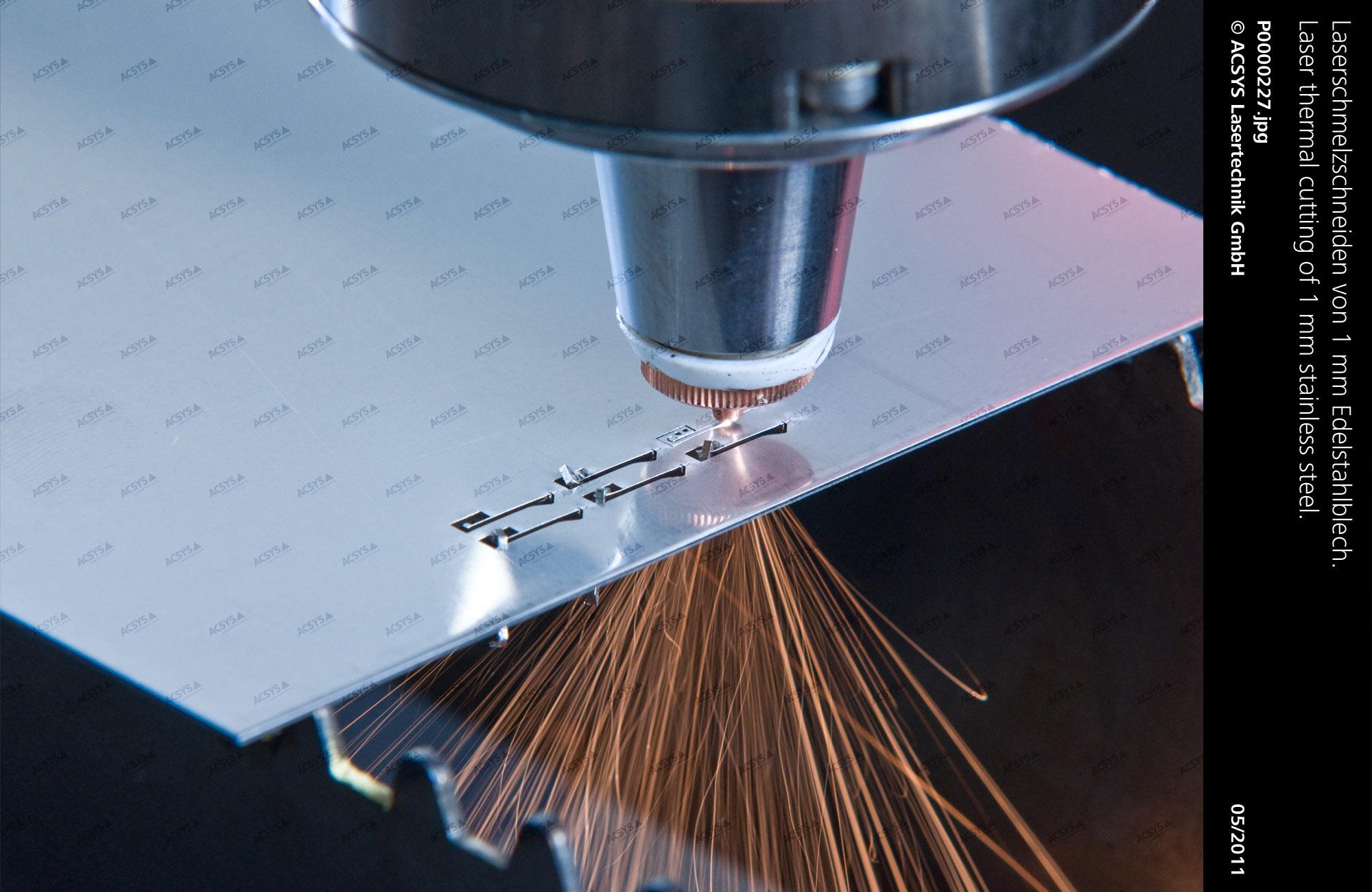 Laser fusion cutting: ACSYS Lasermaschinen