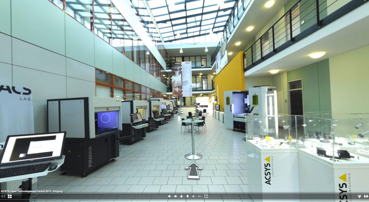 Ein virtueller Rundgang durch die Laser-Technologietage in Kornwestheim. Treten Sie näher!